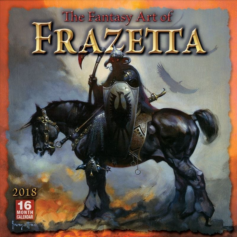 FANTASY ART OF FRANK FRAZETTA - 2018 CALENDAR