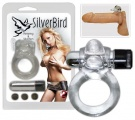Vibračný krúžok Silver Bird