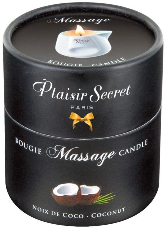 Masážní svíčka Plaisirs Secrets Candle Coconut (80 ml)